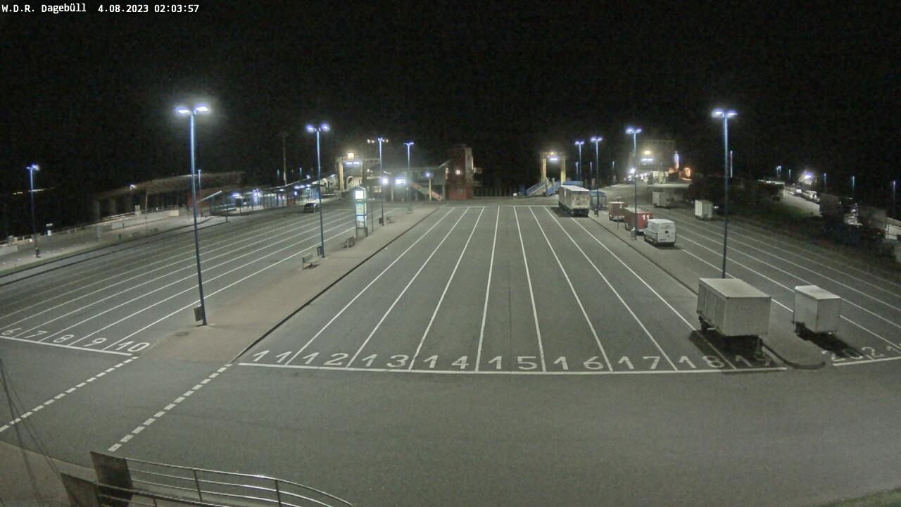 W.D.R. Kamera am neg Bahnhof in Dagebüll Mole
